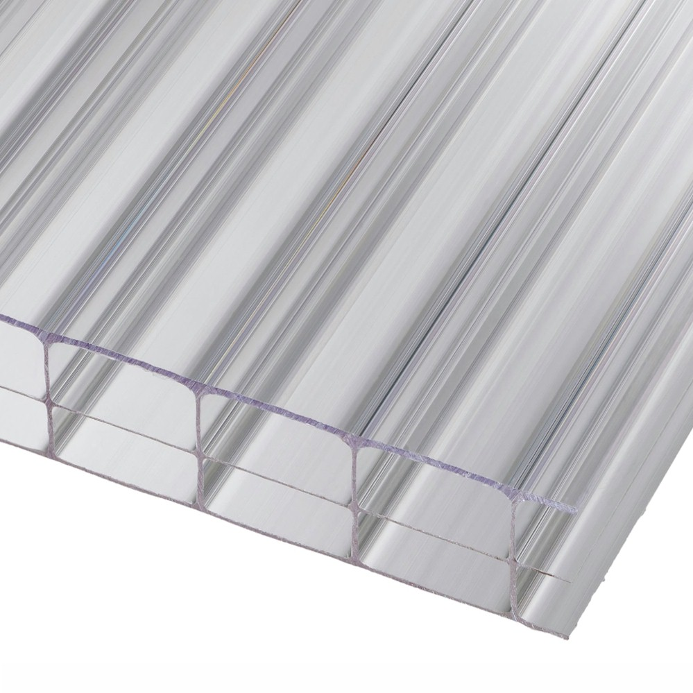 Polycarbonate Sheet - 16mm Trple Wall - Clear - Sizes up to 800 x 3000
